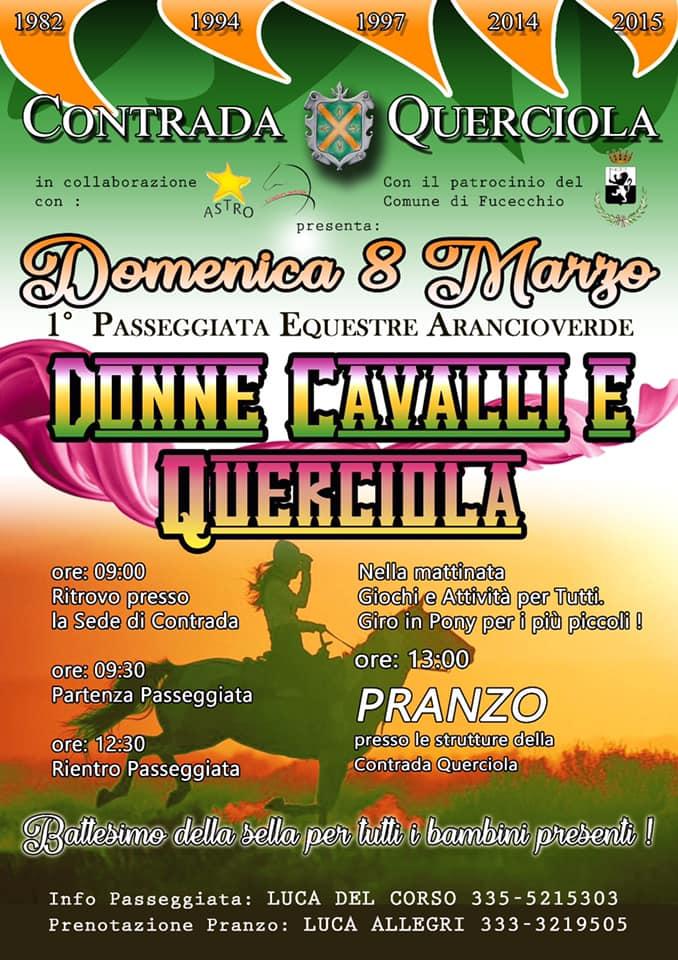 Palio di Fucecchio, Contrada Querciola: 08/03 Donne, cavalli eQuerciola
