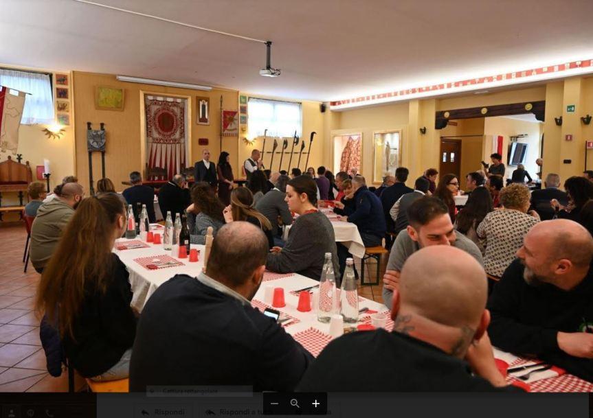Palio di Legnano, Contrada San Bernardino: Resoconto Pranzo  Bolognese di oggi09/02