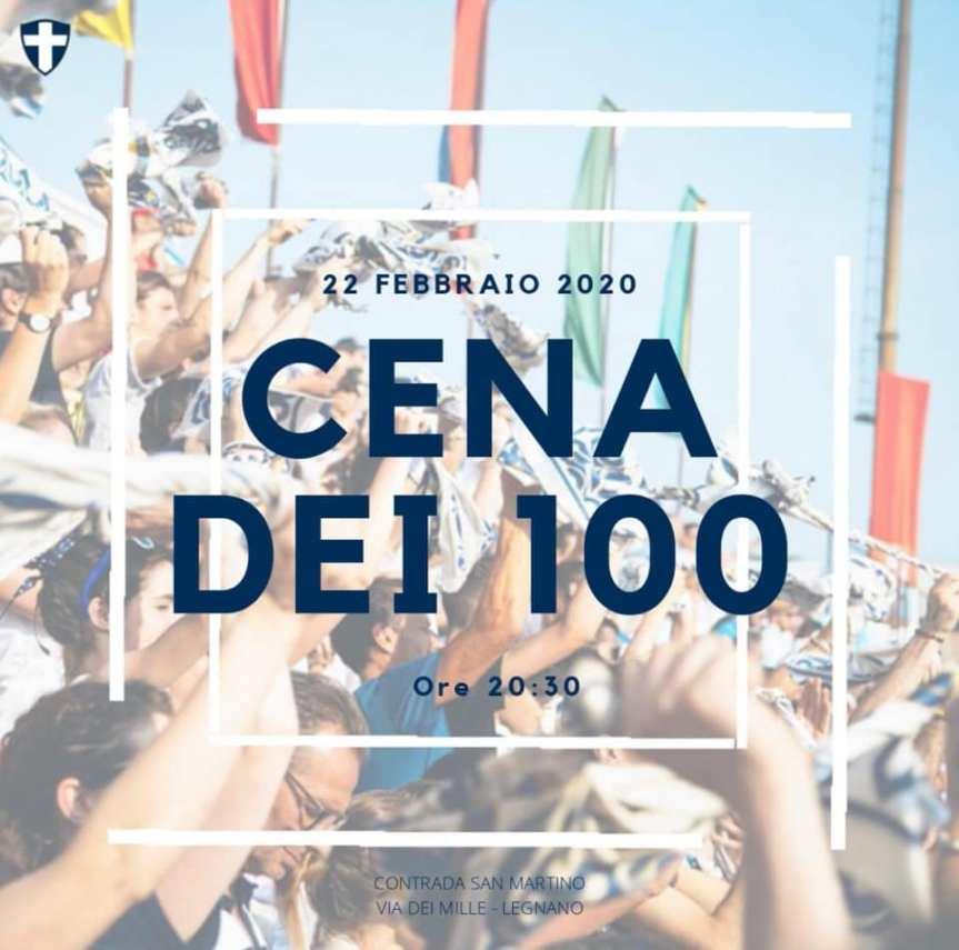 Palio di Legnano, Contrada San Martino: 22/02 Cena dei100