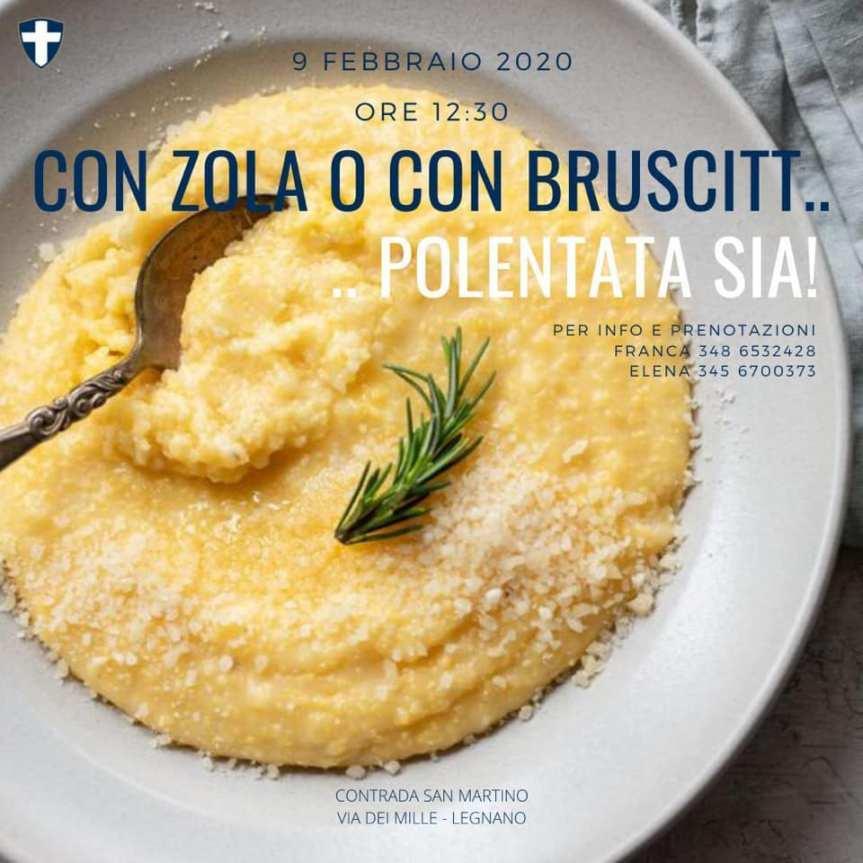 """Palio di Legnano, Contrada San Martino: 09/02 """"Crema di Zola o Bruscitt, una Polenta inFamiglia"""""""