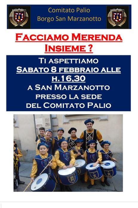 """Palio di Asti, Comitato Palio San Marzanotto: 08/02 """"Facciamo merendaInsieme?"""""""