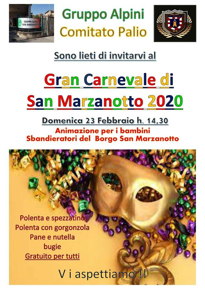 Palio di Asti, Comitato Palio San Marzanotto: 23/02 Gran Carnevale di San Marzanotto2020