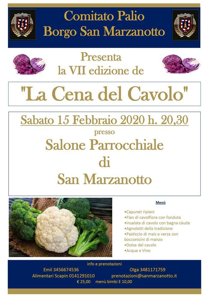 """Palio di Asti, Comitato Palio San Marzanotto: 15/02 """"La Cena delCavolo"""""""