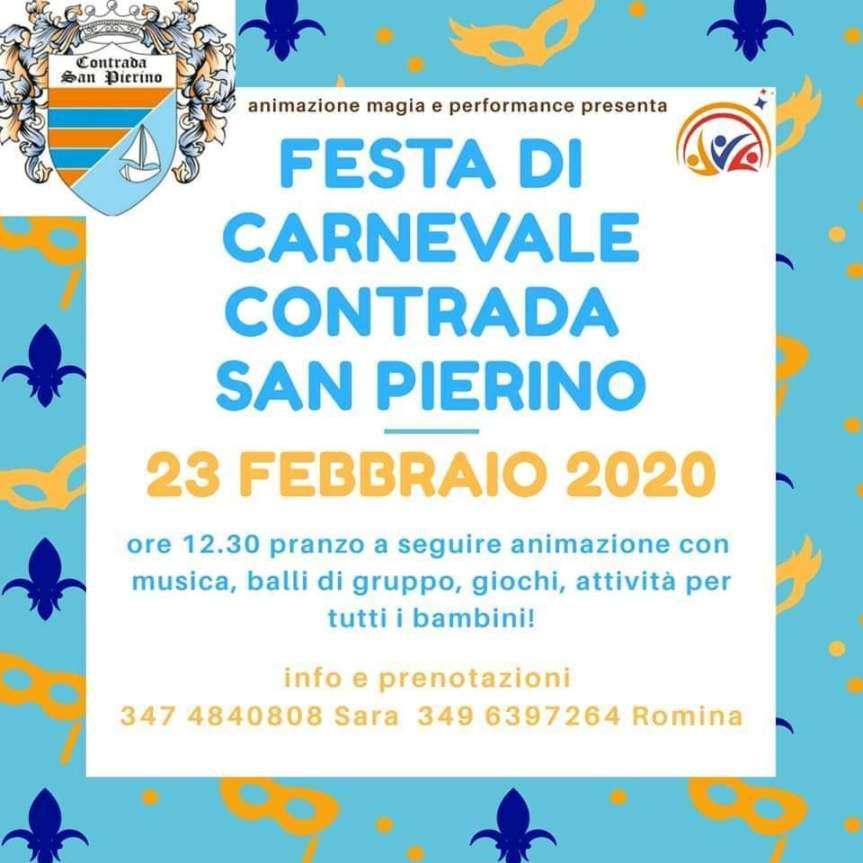 Palio di Fucecchio, Contrada San Pierino: 23/02 Festa diCarnevale