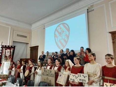 """Palio di Asti, Comitato Palio Borgo San Pietro: Resoconto sulla consegna a San Secondo del premio """"Mara Sillano Sabatini"""" del08/02"""