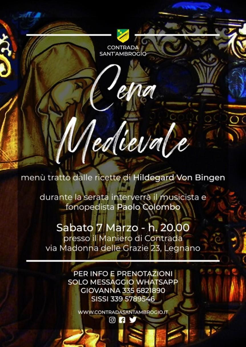 palio di legnano, Contrada Sant'Ambrogio: 07/03 CenaMedievale