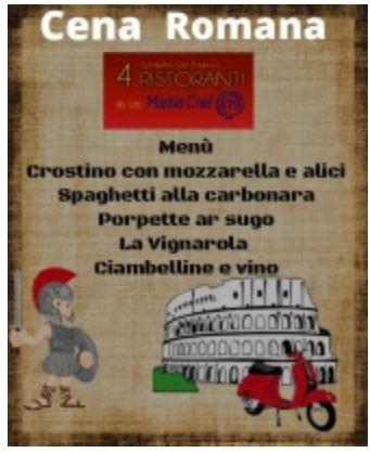 "Siena, Società San Marco: Oggi 08/02 ""Cena Romana & Cena PlasticFree"""