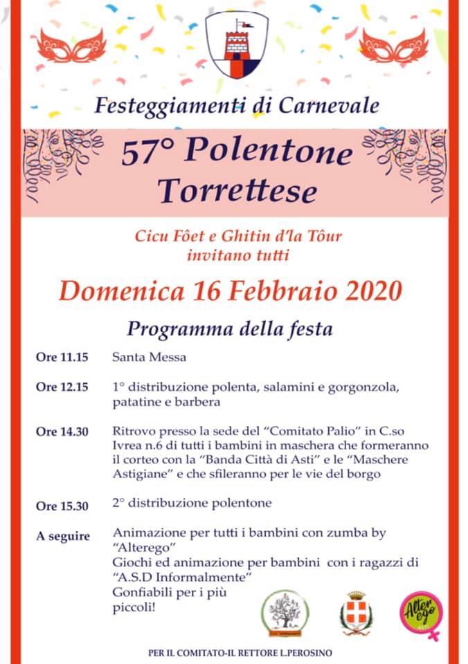Palio di Asti, Comitato Palio Borgo Torretta: 16/02 57° Tradizionale PolentoneTorrettese