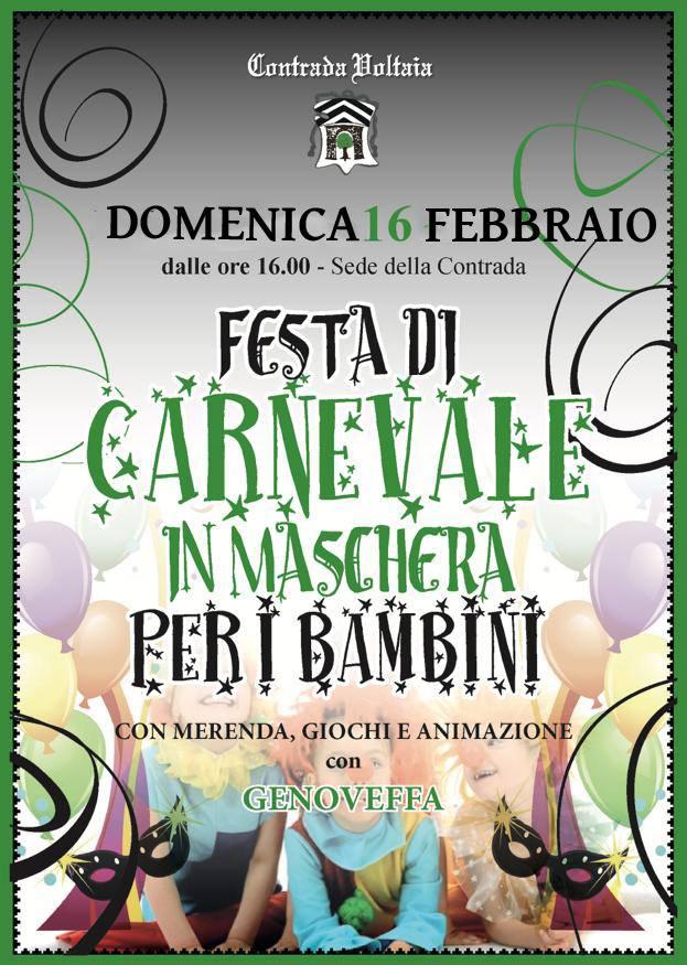 Palio di Piancastagnaio, Contrada Voltaia: 16/02 Carnevale deiBambini