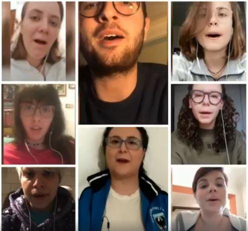 Palio di Asti, Comitato Palio Rione Cattedrale: Il gruppo chiarine ha realizzato un video dal titolo #chiarineacappellachallenge