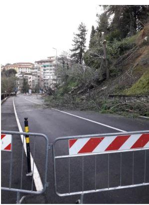 Siena: Chiusa alla viabilità via C.Battisti