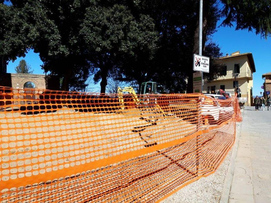 Siena: Iniziati i lavori in Piazza San Francesco la nuova arealudica