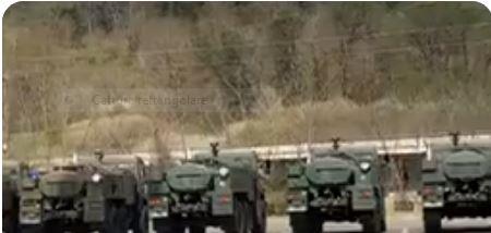 italia: Oggi 26/03 Mezzi per disinfezione dalla Russia arrivati all'autogrill Valdarnodell'A1