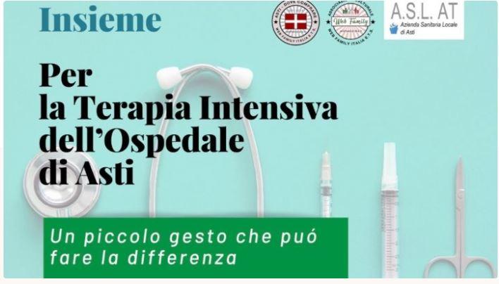 Asti: Raccolta Fondi, Per la Terapia Intensiva – Ospedale diAsti