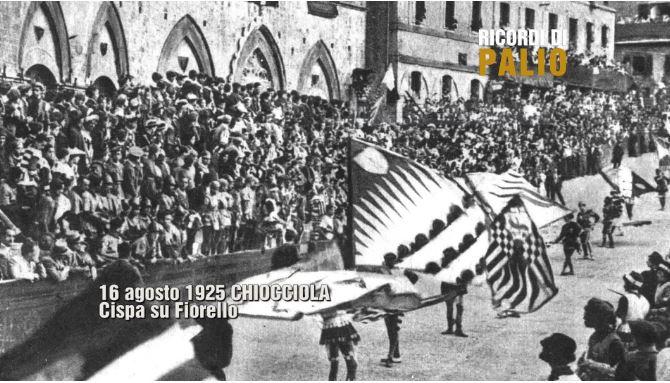 Palio di Siena, Ricordi di Palio: 16/08/1925 Palio vinto dallaChiocciola