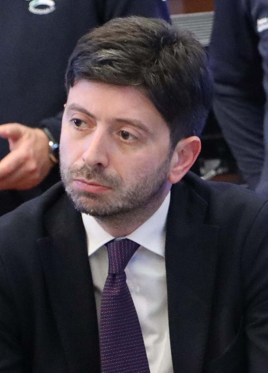 Siena: Il ministro della Sanità Speranza e il presidente regionale Rossi a Siena per visitare Toscana LifeSciences
