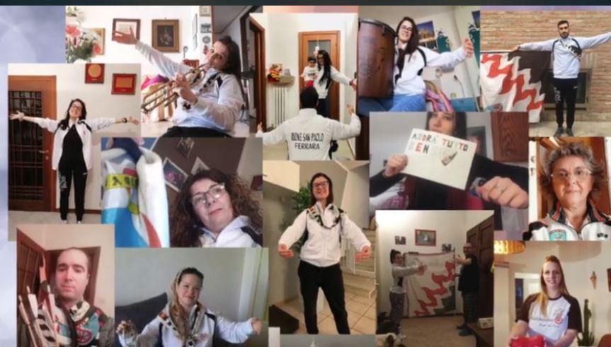 Palio di Ferrara, Rione San Paolo: Messaggio di unione e solidarietà contro ilCovid-19