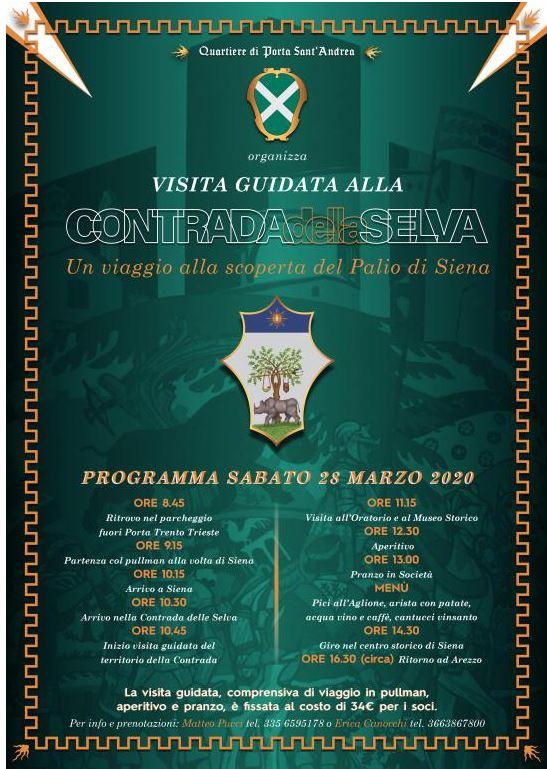 Siena, Contrada della Selva: 28/03 Il Quartiere di Porta Sant'Andrea del Saracino di Arezzo in visita allaContrada