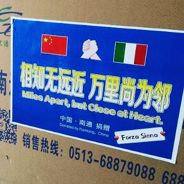Siena: Altre 20.000 mascherine partite da Nantong destinazioneSiena