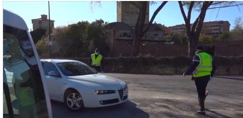 Siena: I controlli effettuati oggi dalla Polizia Municipale per limitare il contagio daCovid-19
