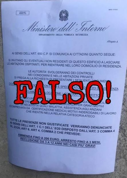 Siena:  🔴#COVIDー19 #FakeNews🛑