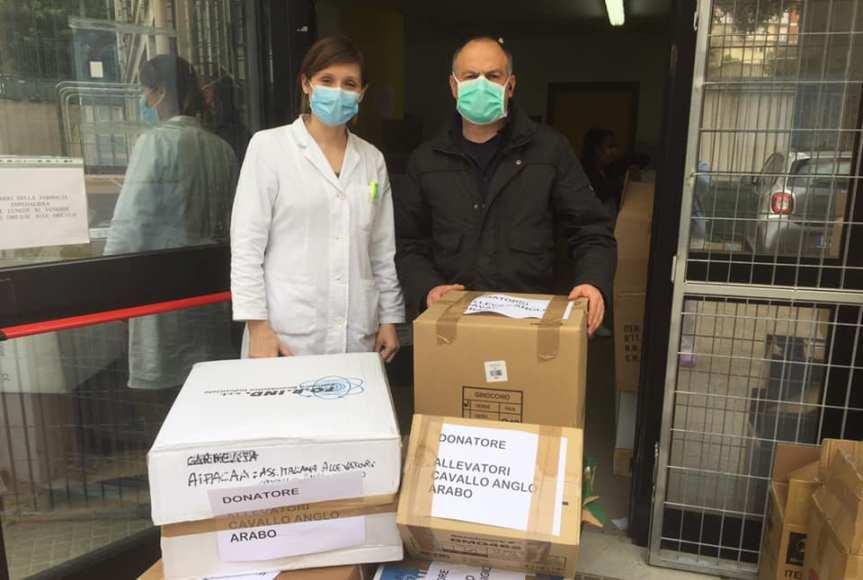 Ippica, Sardegna, Aipacaa: Ieri 03/04 Consegnati i primi dispositivi di protezione individuale alla farmacia OspedaleSassari