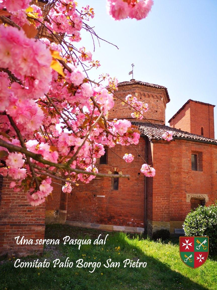 Palio di Asti, Comitato Palio Borgo San Pietro: Auguri di una serenaPasqua