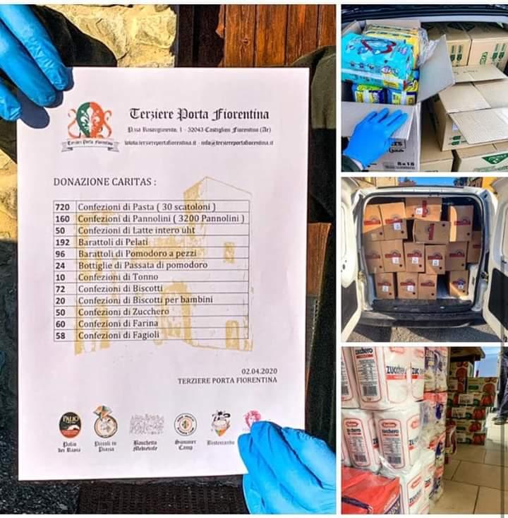 Palio di Castiglion Fiorentino, Terziere Porta Fiorentina: Effettuata Donazione alla Cartias di beni di primanecessità
