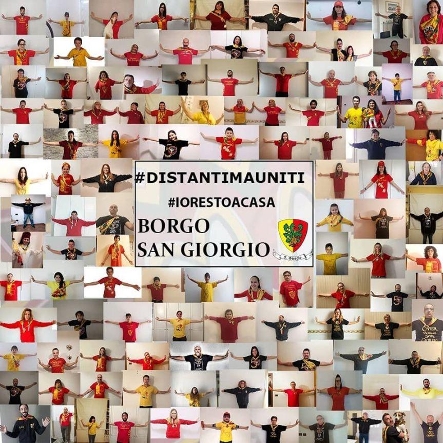 Palio di Ferrara, Borgo San Giorgio: Anche il Borgo lancia un messaggio  #distantimauniti ,#iorestoacasa