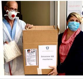 Palio di Legnano, Contrada San Martino: Consegnate mascherine  alla RSA eProciv