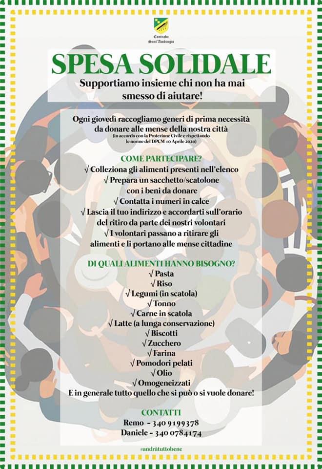 Palio di Legnano, Contrada Sant'Ambrogio: Spesa Solidale, supportiamo insieme chi non ha mai smesso diaiutare