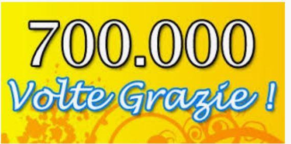 Massi lo Sà: Nuovo Record del Blog, raggiunta quota 700.000visite!!