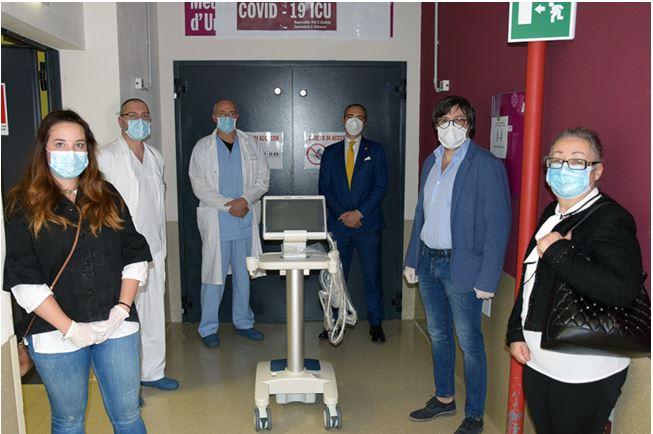 Siena, Contrada dell'Aquila: Oggi 14/05 Donato ecografo all'Ospedale Santa Maria alleScotte