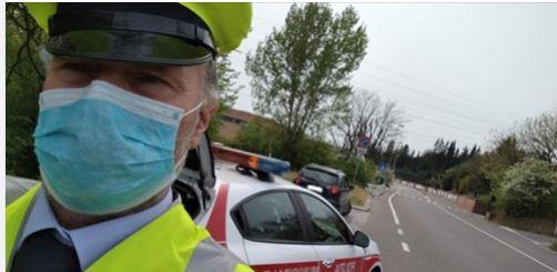 Siena: I controlli effettuati oggi, 4 maggio, dalla Polizia Municipale a seguito dell'emergenzacovid-19