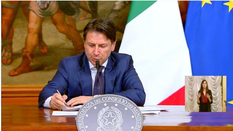 Italia: Consiglio dei Ministri n. 45, conferenza stampa del PresidenteConte