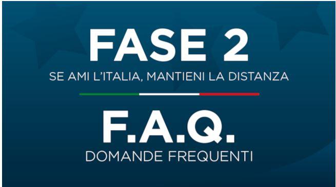 """Italia, """"Fase 2"""": Pubblicate le Faq, le domande frequenti sulle misure adottate dalGoverno"""