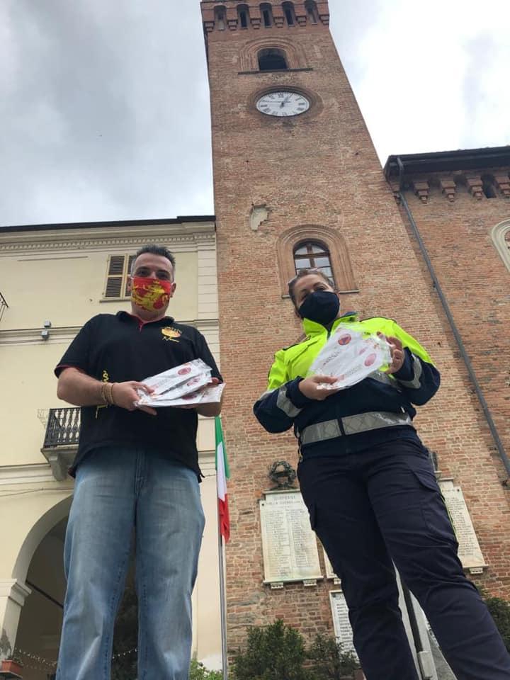 Palio di Asti, Comitato Palio Nizza Monferrato: Oggi 17/05 Consegnate le mascherine della RegionePiemonte