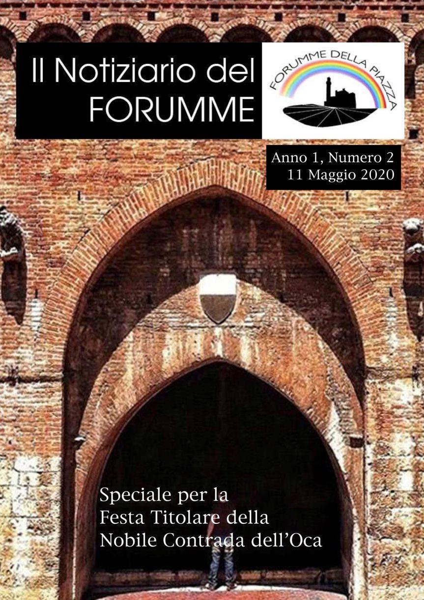 Palio di Siena, Forumme della Piazza: Notiziario del Forumme, seconda uscita di oggi11/05