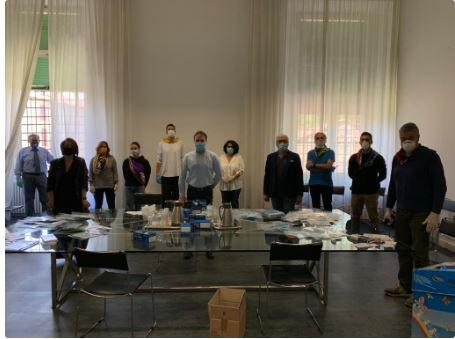 Palio di Ferrara: Collaborazione Comune di Ferrara ed Ente Palio di Ferrara per imbustamentomascherine