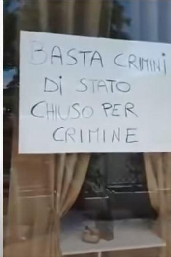 ITALIA: TITOLARE DI UN BAR CHIUDE DEFINITIVAMENTE ED ESTERNA TUTTA LA SUARABBIA!!