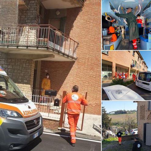 Siena:  La Pubblica Assistenza di Taverne D'Arbia in prima linea nell'emergenza Coronavirus