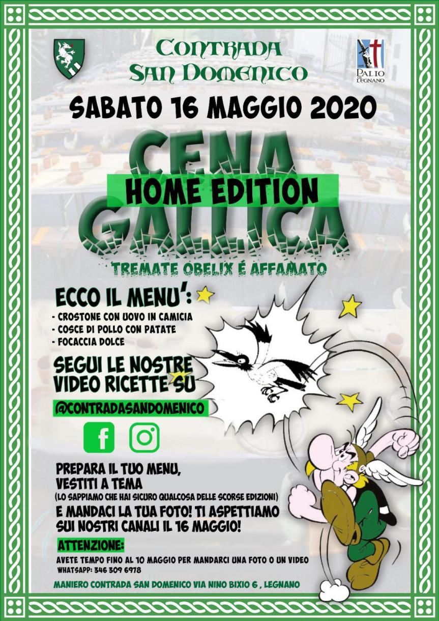 Palio di Legnano, Contrada San Domenico: 16/05 Cena Gallica HomeEdition