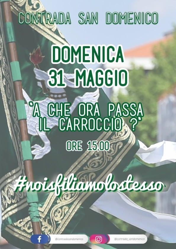 Palio di Legnano, Contrada San Domenico: 31/05 ore 15.00 #noisfiliamolostesso