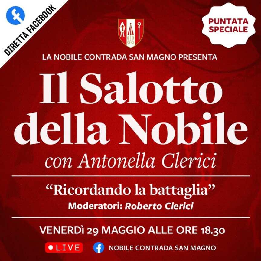"""Palio di Legnano, Contrada San Magno: 29/05 """"il Salotto della Nobile"""" con AntonellaClerici"""
