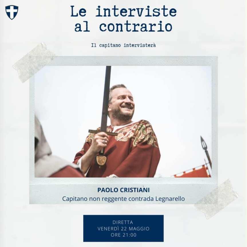 """Palio di Legnano, Contrada San martino: Oggi 22/05 ore 21.00 """"Le Interviste al Contrario"""" De Pascali intervista PaoloCristiani"""