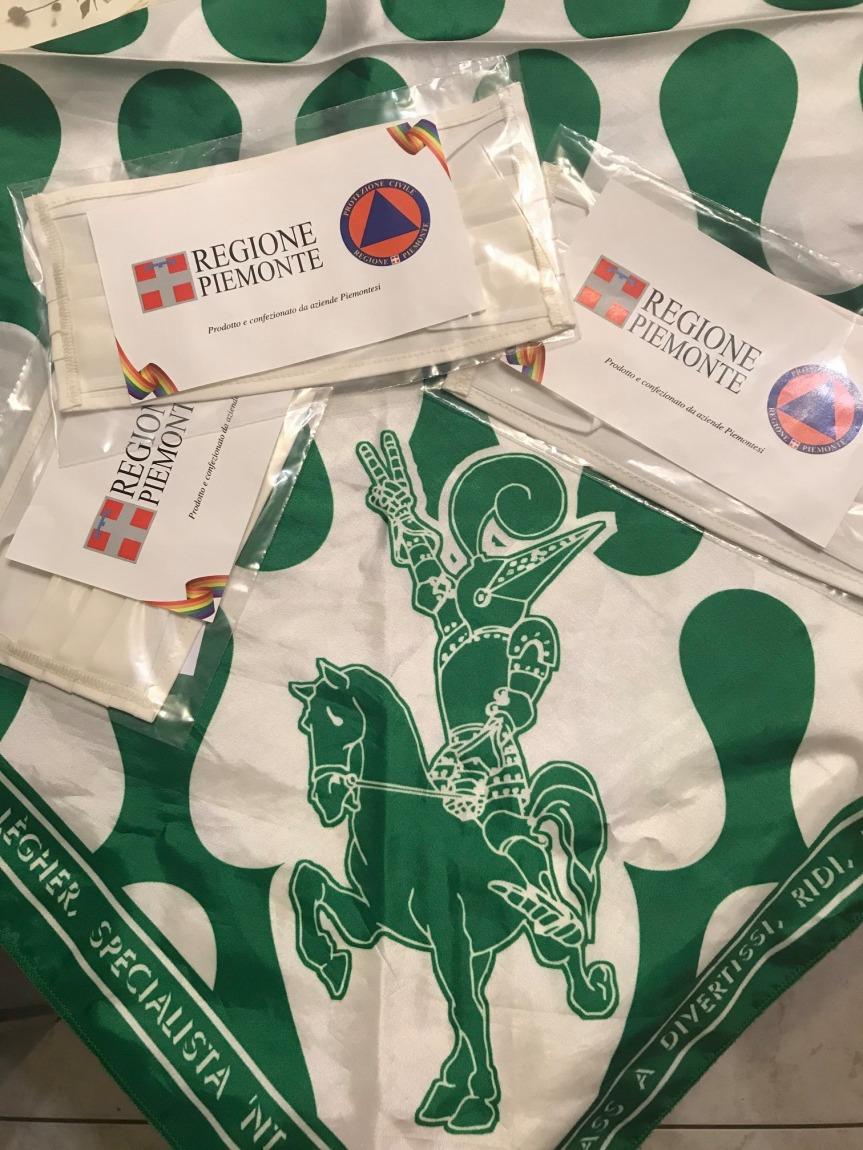 Palio di Asti, Comitato Palio Rione San martino-SanRocco: ieri 09/05 consegnate le mascherine della RegionePiemonte