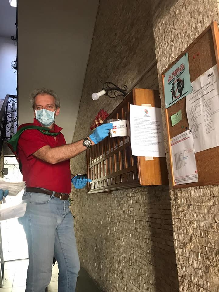 Palio di Asti, Borgo San Pietro: Consegnate le mascherine della RegionePiemonte