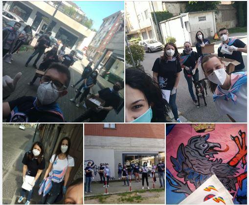 Palio di Asti, Comitato Palio Borgo Santa Maria Nuova: Ieri 09/05 consegnate le mascherine della RegionePiemonte