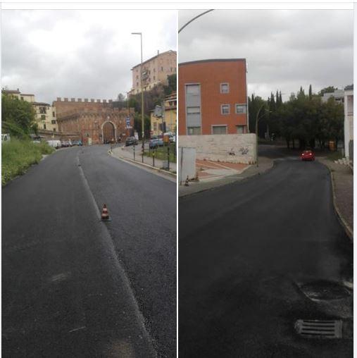 Siena: Oggi 15/05 proseguono le asfaltature in Via peruzzi eBerlinguer