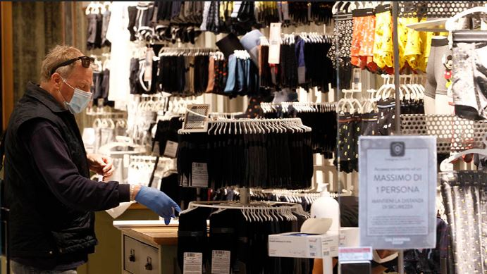 Italia: Shopping in sicurezza contro il contagio daCovid